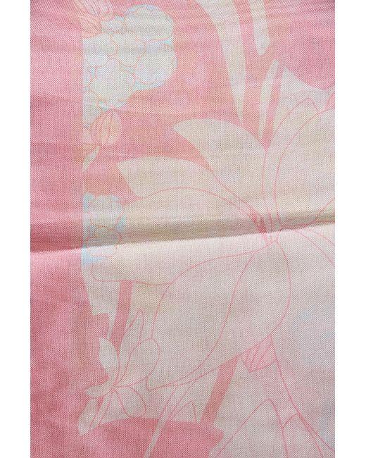 Палантин Valentino                                                                                                              розовый цвет