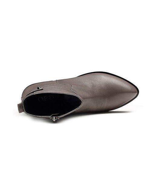 Ботинки O.E                                                                                                              серый цвет