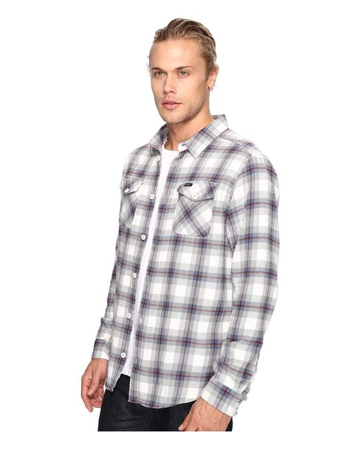 Thatll Work Flannel Long Sleeve Antique Mens Rvca                                                                                                              белый цвет