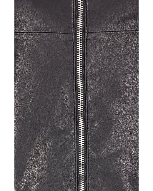 Куртка Кожаная ARMANI JEANS                                                                                                              чёрный цвет