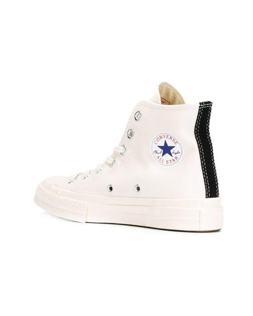 Высокие Кеды Converse Chuck Taylor Comme des Gar ons Play                                                                                                              белый цвет
