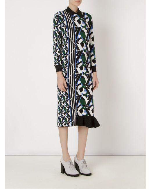 Mid-Length Knit Dress Gig                                                                                                              белый цвет
