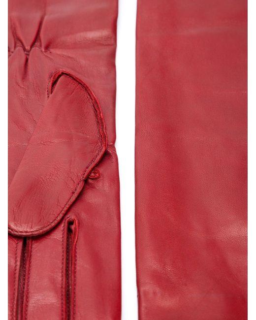 Длинные Перчатки Ann Demeulemeester                                                                                                              красный цвет