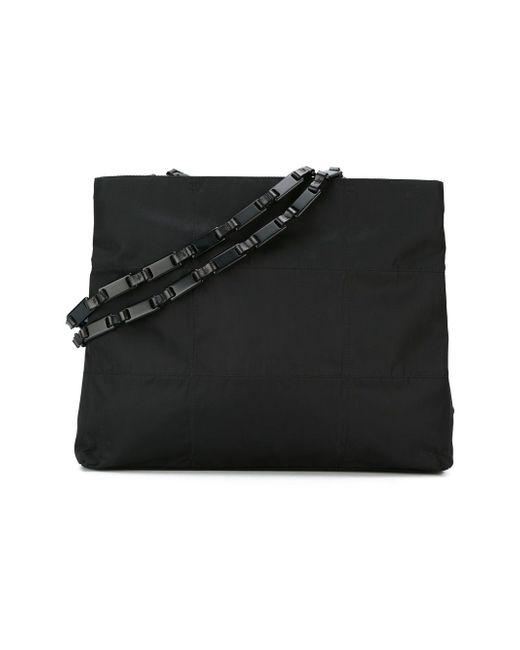 Сумка-Тоут С Цепочными Ручками Prada                                                                                                              чёрный цвет