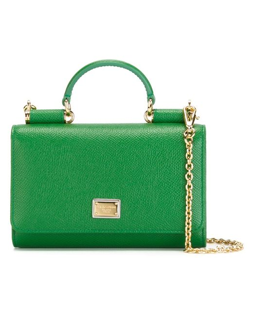 Мини Сумка Через Плечо Von Dolce & Gabbana                                                                                                              зелёный цвет