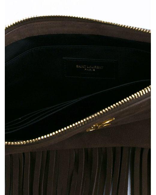 Клатч Monogram Saint Laurent                                                                                                              коричневый цвет
