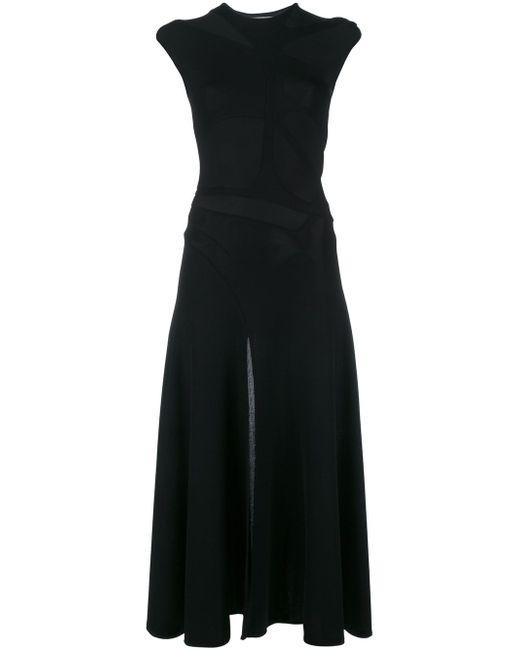 Платье Миди С Вырезными Деталями ESTEBAN CORTAZAR                                                                                                              чёрный цвет