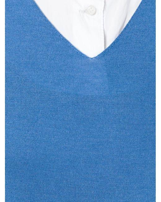 Футболка С V-Образным Вырезом Liska                                                                                                              синий цвет