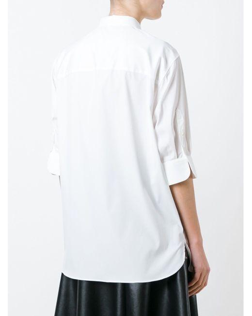 Рубашка С Засученными Рукавами Neil Barrett                                                                                                              белый цвет