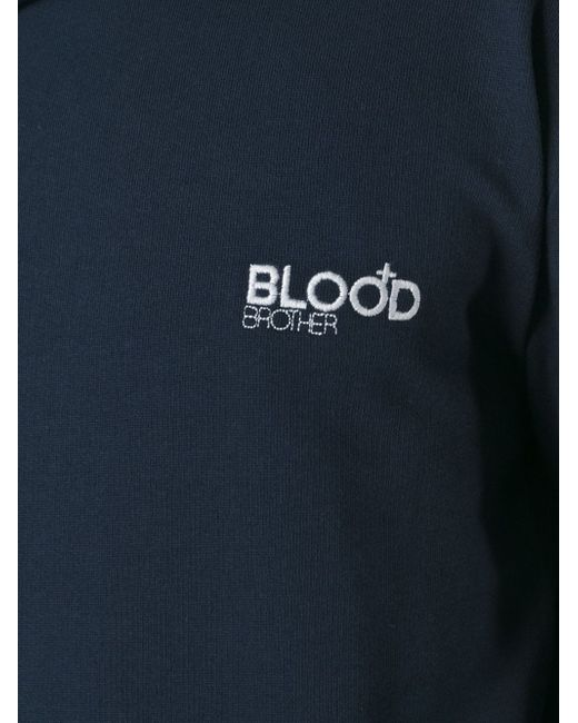 Толстовка С Логотипом Blood Brother                                                                                                              синий цвет