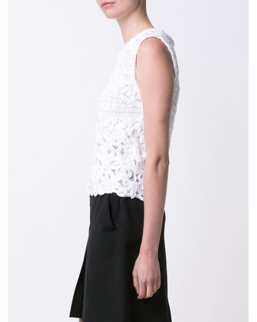 Knitted Tank Top Ermanno Scervino                                                                                                              белый цвет