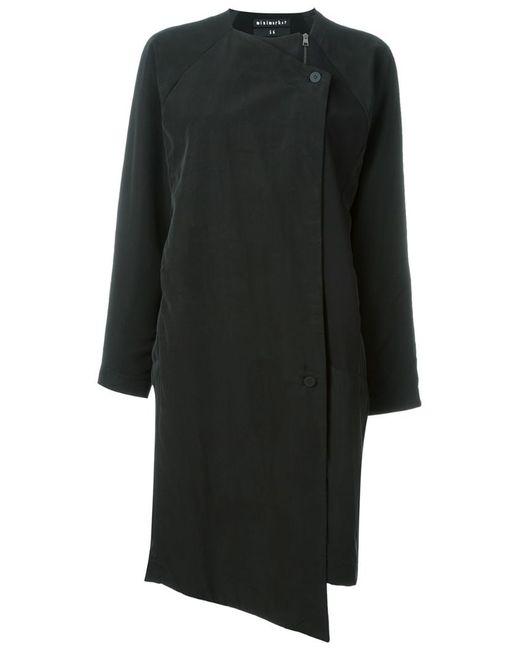 Minimarket | Женское Чёрное Однобортное Пальто Soul