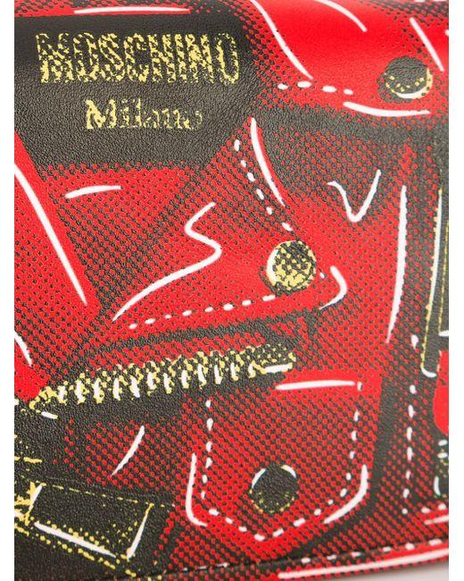 Сумка Через Плечо С Эффектом Тромплей Moschino                                                                                                              красный цвет