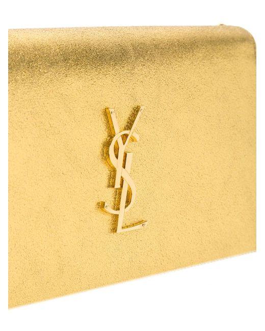 Кошелек Monogram С Цепочной Лямкой Saint Laurent                                                                                                              серебристый цвет