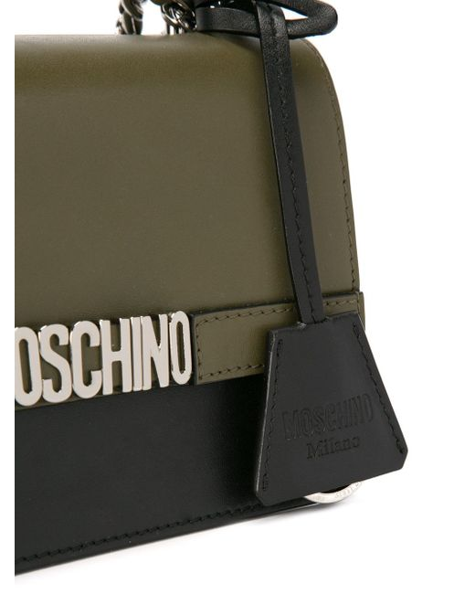 Сумка На Плечо С Логотипом Moschino                                                                                                              зелёный цвет