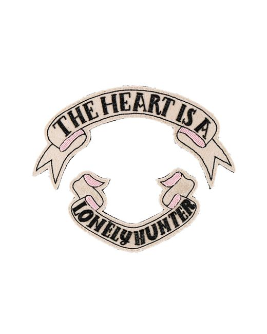 Брошь The Heart Is A Lonely Hunter Olympia Le-Tan                                                                                                              Nude & Neutrals цвет