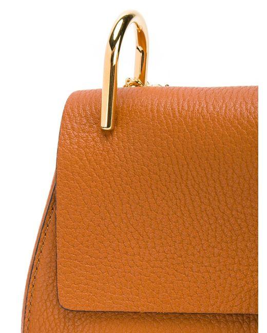 Drew Shoulder Bag Chloe                                                                                                              коричневый цвет