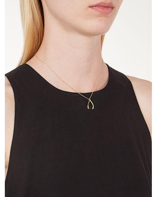 Skyfall Wishbone Necklace Nialaya Jewelry                                                                                                              желтый цвет