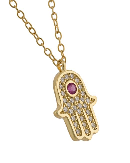 Hamsa Hand Pendant Necklace Nialaya Jewelry                                                                                                              желтый цвет