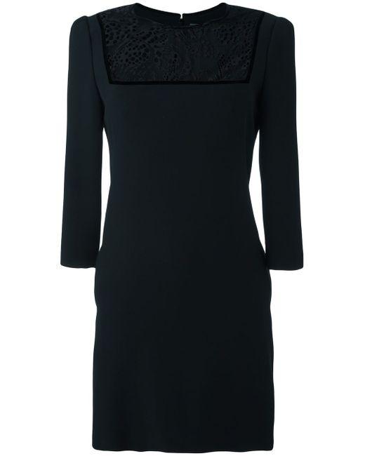 Платье С Кружевной Вставкой Alexander McQueen                                                                                                              чёрный цвет