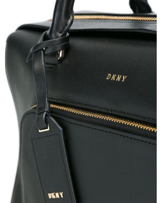 Сумка-Тоут С Карманом На Молнии DKNY                                                                                                              чёрный цвет