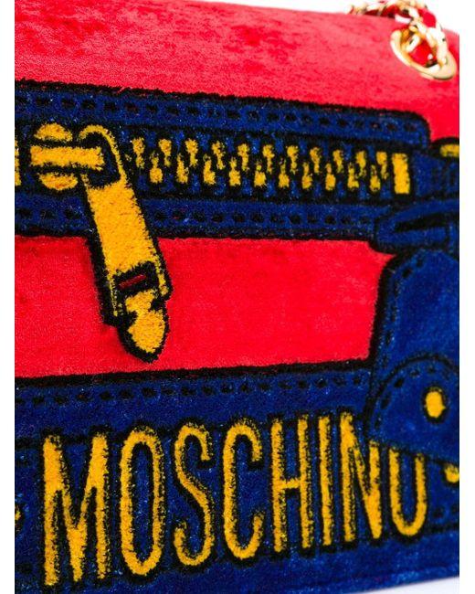 Сумка На Плечо Moschino                                                                                                              красный цвет