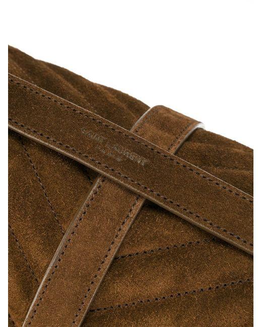 Средняя Сумка-Сэтчел Monogram Saint Laurent                                                                                                              коричневый цвет