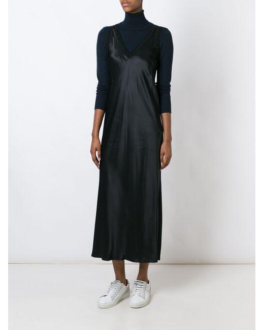 Satin Slip Dress DKNY                                                                                                              чёрный цвет