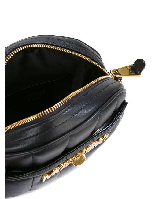 Сумка На Плечо С Подвеской В Виде Moschino                                                                                                              чёрный цвет