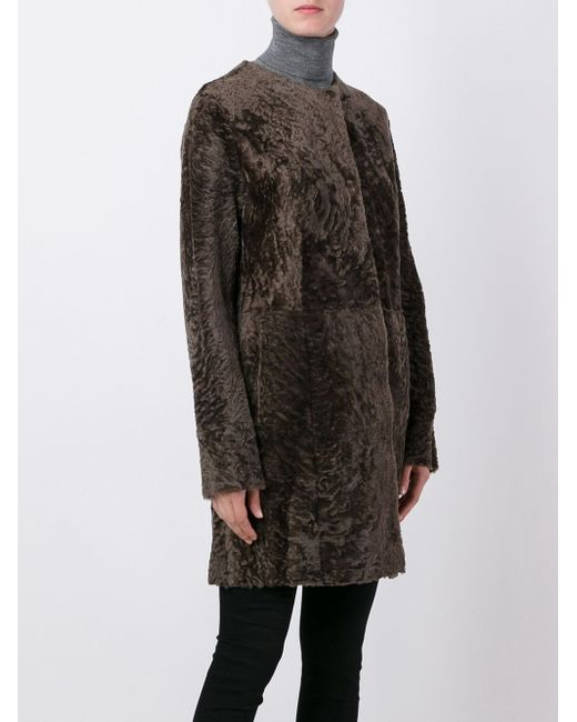 Шерстяное Пальто Drome                                                                                                              коричневый цвет