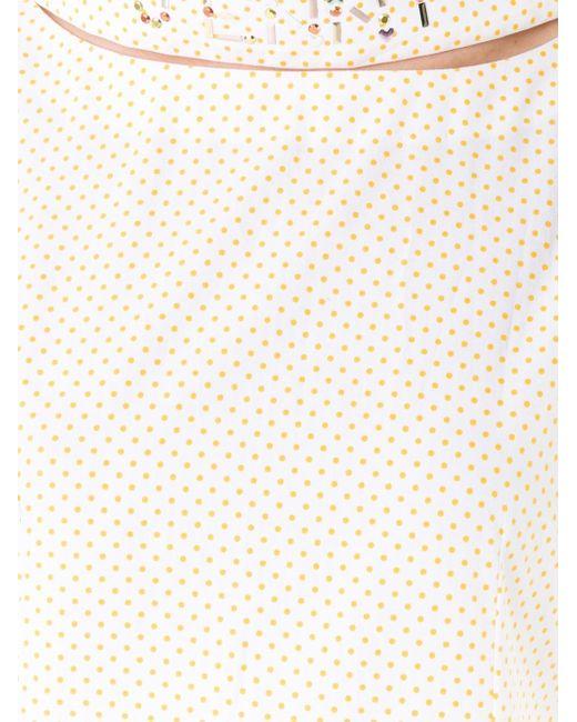 Длинное Платье С Рисунком В Горох Jenny Fax                                                                                                              белый цвет