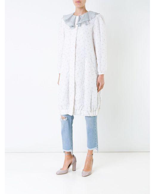 Пальто С Цветочным Рисунком И Оборками Jenny Fax                                                                                                              белый цвет