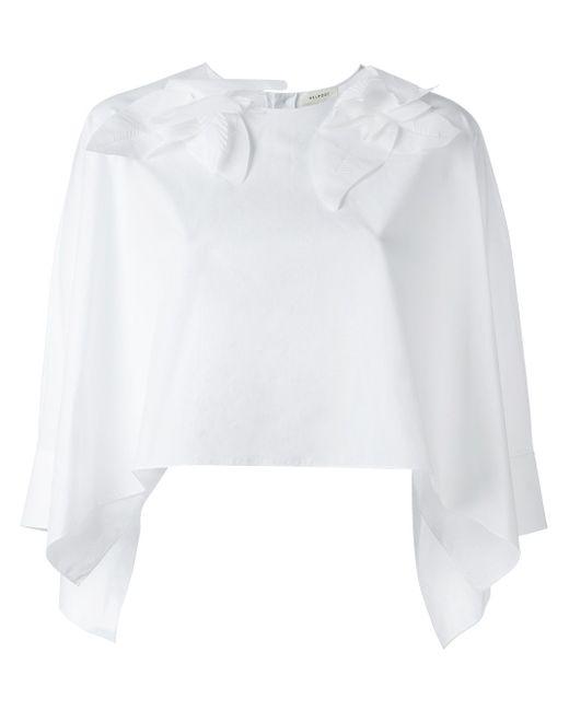 Укороченная Блузка Delpozo                                                                                                              белый цвет