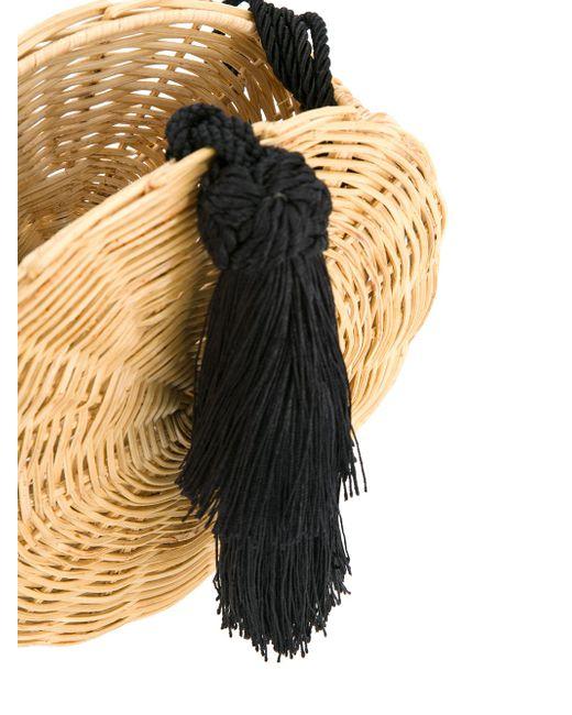 5b8e1bebfaae Женская Коричневая Круглая Плетеная Сумка С Кисточкой WAI WAI 1481759988