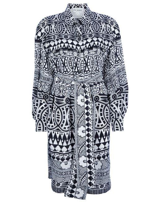 Платье С Геометрическим Рисунком GIANFRANCO FERRE VINTAGE                                                                                                              чёрный цвет