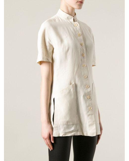 Рубашка На Пуговицах Hermès Vintage                                                                                                              Nude & Neutrals цвет