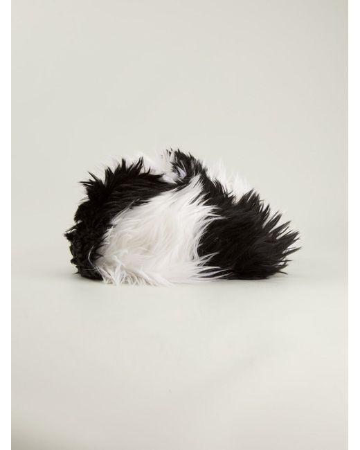 Меховая Шапка Chanel Vintage                                                                                                              чёрный цвет
