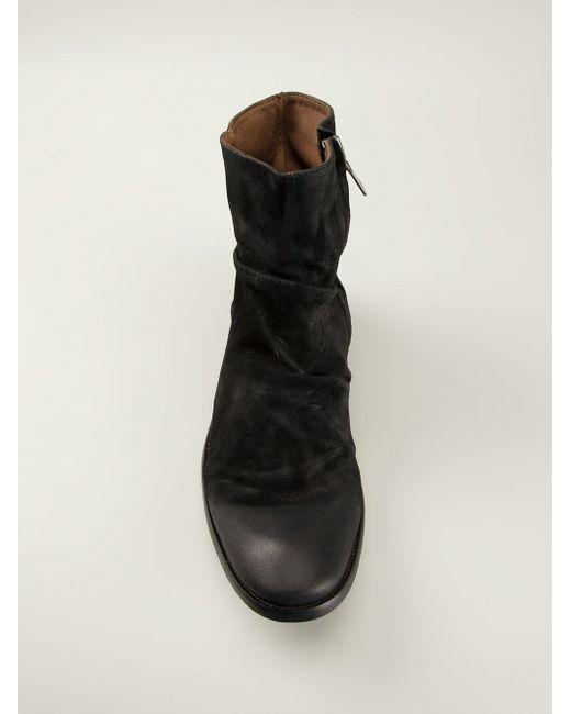 Ботинки С Потертым Эффектом John Varvatos                                                                                                              чёрный цвет