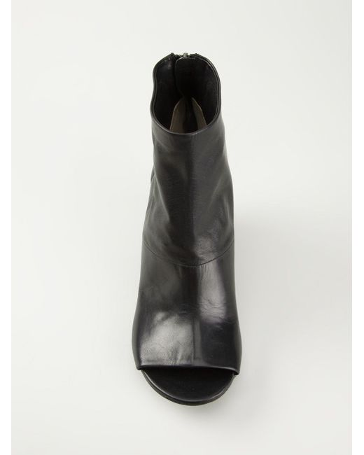 Сапоги По Щиколотку С Открытым Носком Marsell                                                                                                              чёрный цвет