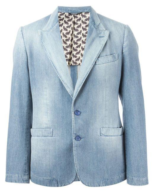 Джинсовая Куртка Dolce & Gabbana                                                                                                              синий цвет