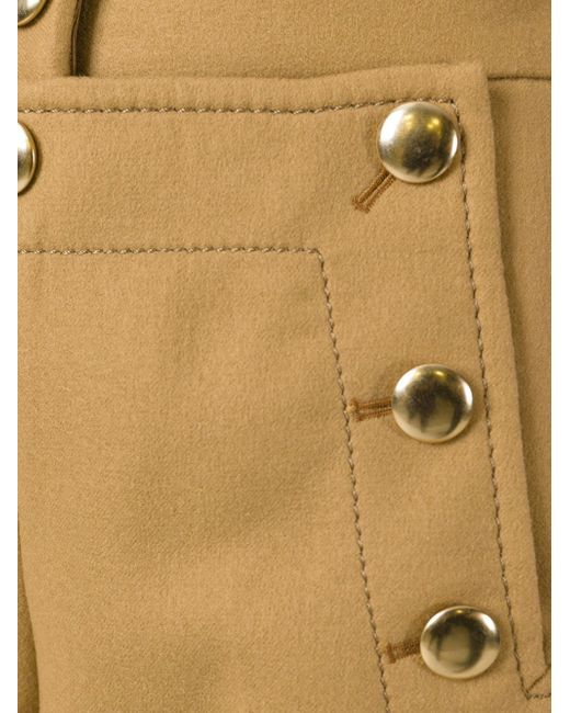 Кюлоты С Золотистыми Пуговицами Sacai Luck                                                                                                              коричневый цвет