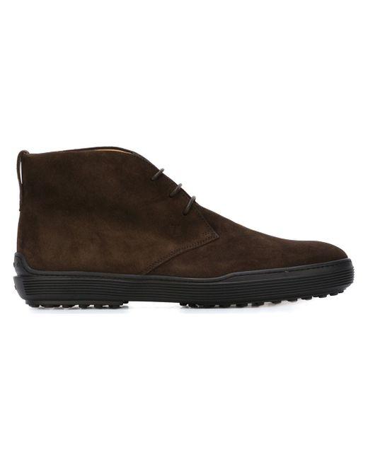 Ботинки На Шнуровке Tod'S                                                                                                              коричневый цвет