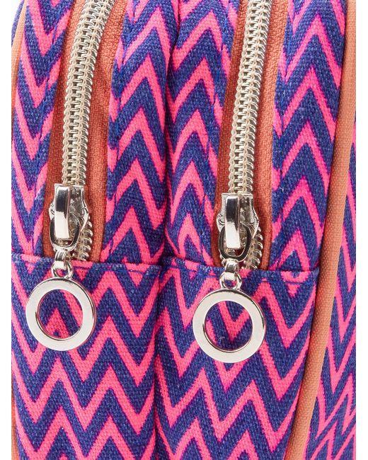 Zig Zag Pattern Make-Up Bag Sub                                                                                                              розовый цвет