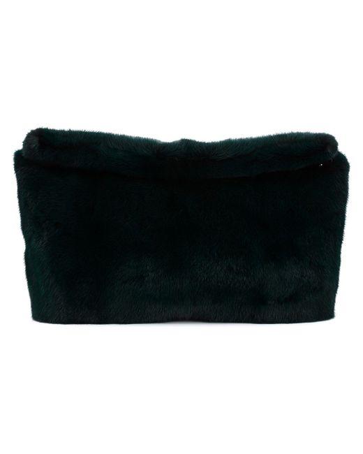 Клатч Их Меха Норки Derek Lam                                                                                                              зелёный цвет
