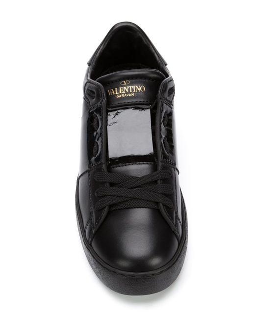 Кеды Open Valentino                                                                                                              чёрный цвет