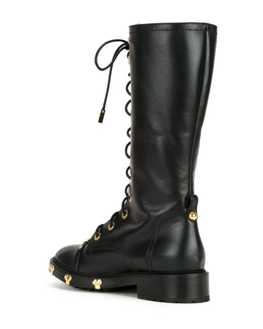 Ботинки В Стиле Милитари Moschino                                                                                                              чёрный цвет