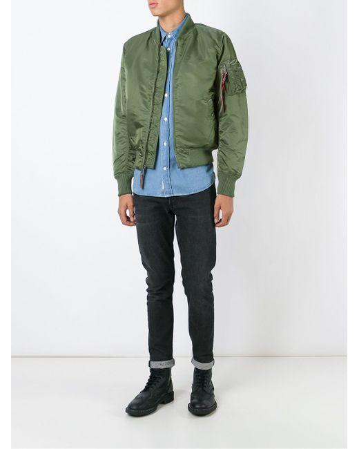 Куртка-Бомбер Alpha Industries                                                                                                              зелёный цвет