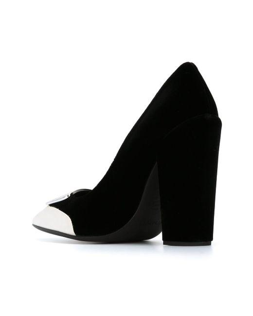 Туфли С Контрастным Носком Giambattista Valli                                                                                                              чёрный цвет