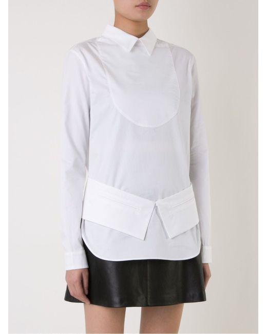 Рубашка Структурированного Кроя Each X Other                                                                                                              белый цвет