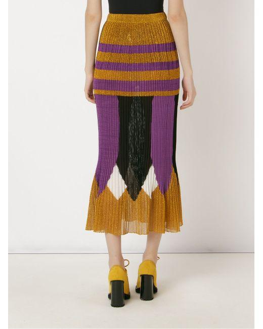 Mid-Length Knit Skirt Gig                                                                                                              желтый цвет